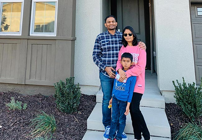 Gaurav family with their new home - Meet the Homeowners