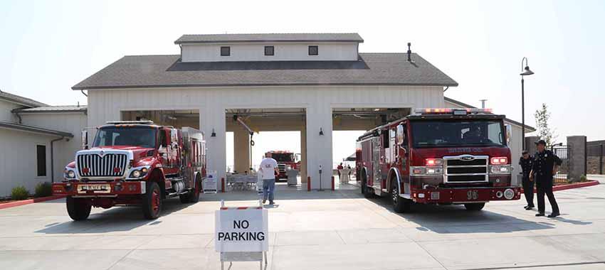 Tracy Hills Fire Station Firetrucks
